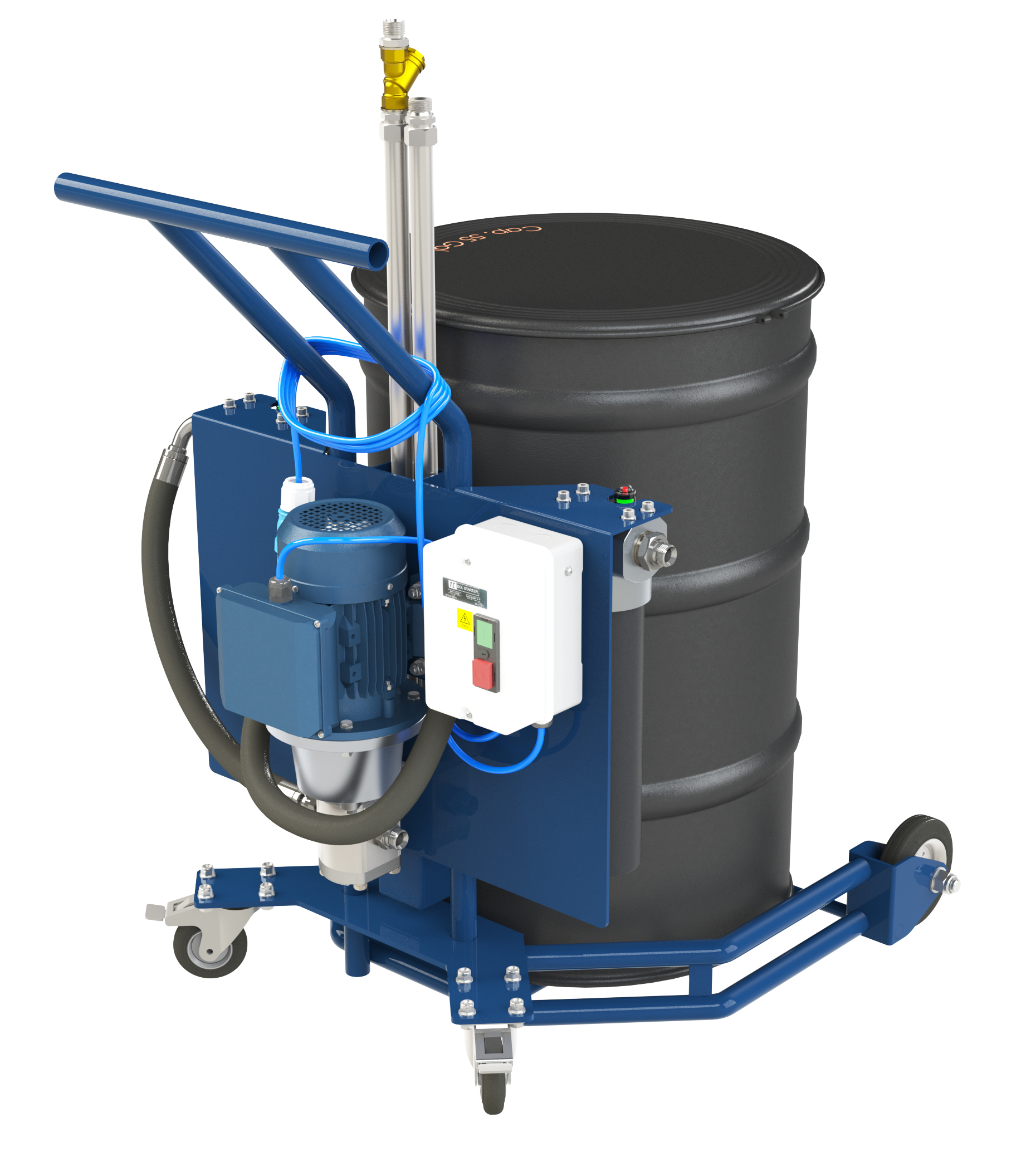 DFC-3000: OIL DRUM FILTER TROLLEY